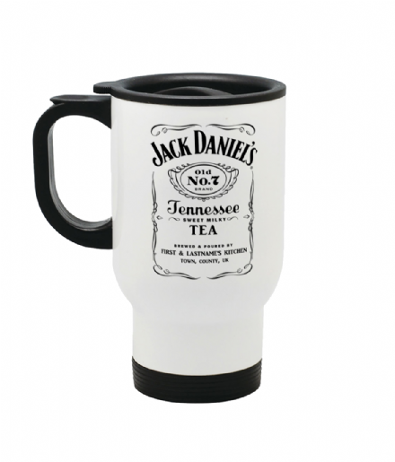 Personalised Jack Daniels Tea or Coffee Reusuable Travel Mug